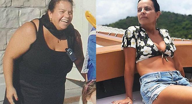 Irmã de Ivete publicou clique à esqurda; foto atual mostra o 'antes e depois'