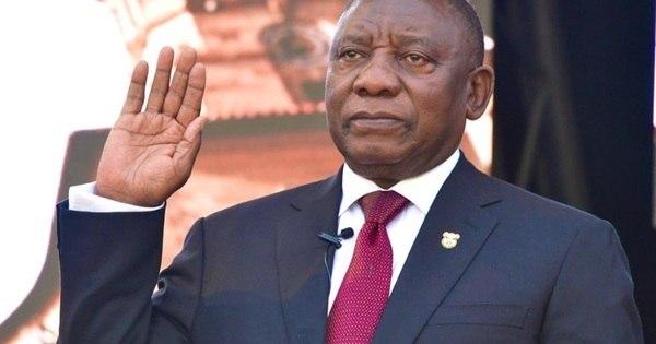 Cyril Ramaphosa toma posse como presidente da África do Sul