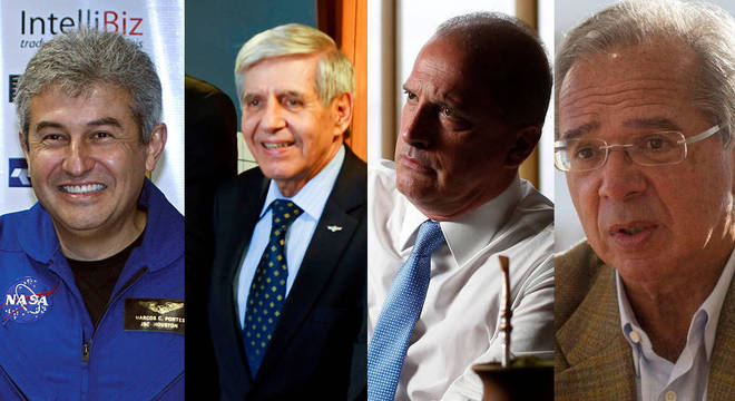 Marcos Pontes, Augusto Heleno, Onyx Lorenzoni e Paulo Guedes serão ministros