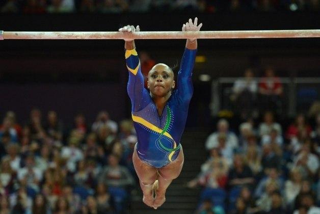Daiane do Santos - Primeira ginasta brasileira a conquistar medalha de ouro em mundiais, Daiane dos Santos chegou como principal nome da ginástica brasileira nas Olimpíadas de 2004, em Atenas. Favorita no salto, sofreu uma queda e não conseguiu a tão sonhada medalha de ouro.