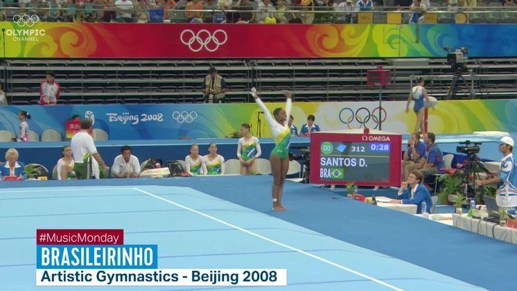 Em 2003, Daiane dos Santos conquistou uma inédita medalha de ouro para o Brasil no Mundial de Ahahein, na Califórnia, com uma coreografia ao som de Brasileirinho, de Waldir Azevedo. Nesta apresentação, a ginasta executou pela primeira vez o movimento que recebeu seu nome: oduplo twist carpadoou Dos Santos.Nos Jogos Olímpicos de Pequim, em 2008, Daiane voltou a performar com a música Brasileirinhoe, apesar de não ter ganhado medalha,executou o segundo movimento, intituladoDos Santos II, a variação esticada do primeiro