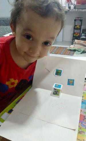 Daniel: cartão com dobradura especial para o papai