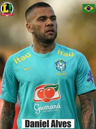 Daniel Alves - 6,0 - Participou bastante da criação da Seleção Brasileira no setor ofensivo, tendo liberdade para avançar.