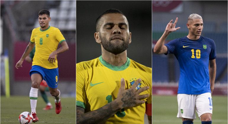 Bruno Guimarães, Daniel Alves e Richarlison foram os grandes destaques em Tóquio 2020