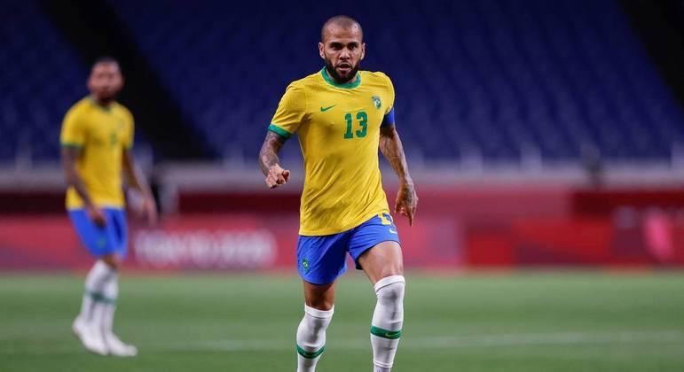 Daniel Alves foi o capitão da seleção brasileira na Olimpíada de Tóquio