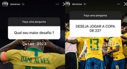 Daniel Alves fala sobre desejo de defender a seleção