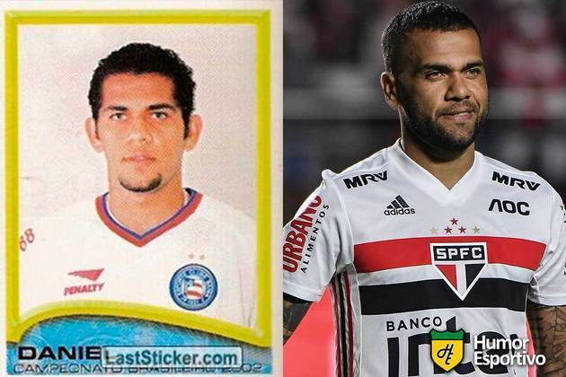 Daniel Alves jogou em 2002 pelo Bahia. Inicia o Brasileirão 2021 com 38 anos e jogando pelo São Paulo.
