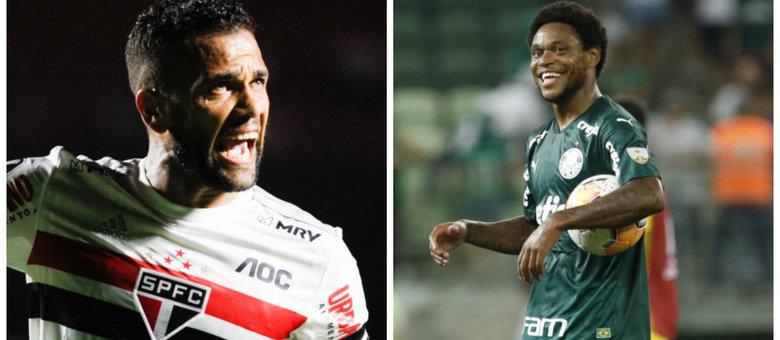 Daniel Alves, no São Paulo, e Luiz Adriano, no Palmeiras, têm sido destaques