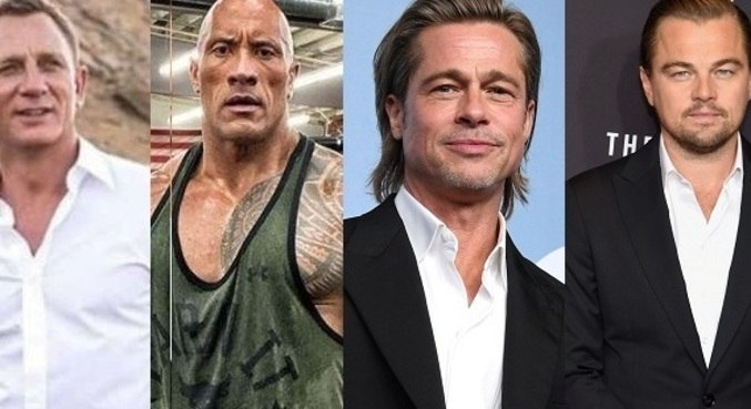 Daniel Craig, The Rock, Brad Pitt, Di Caprio