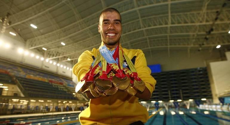 O nadador paralímpico Daniel Dias