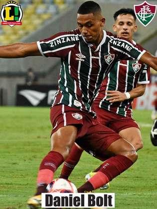 Daniel Lima - 5,5 - Deu mais segurança ao lado direito do Fluminense, mas teve poucos minutos em campo.