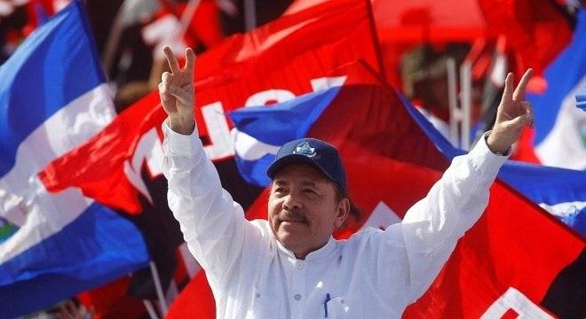 Presidente da Nicarágua, Daniel Ortega em evento comemorando os 39 anos da revolução