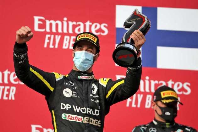 Daniel Ricciardo andou bem e foi o terceiro no GP da Emília-Romanha