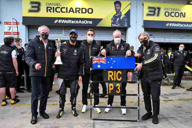 Daniel Ricciardo, da Renault, também conquistou dois pódios.