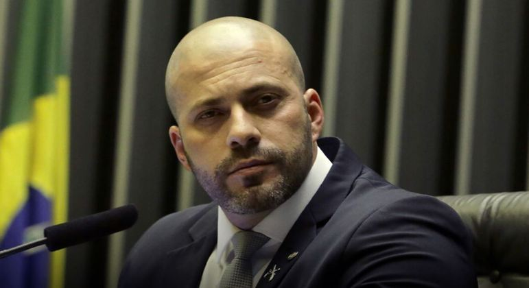O deputado federal Daniel Silveira, preso na terça-feira (16)