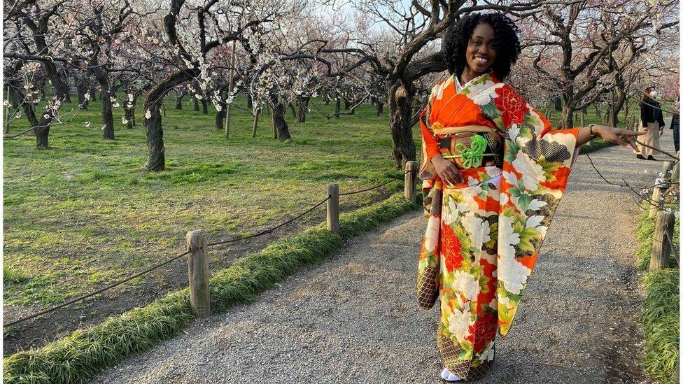 Jamaicana Danielle Thomas, de 28 anos, chegou ao Japão em 2016