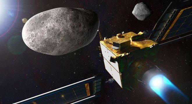 APL A nave DART tem a missão de se chocar contra o asteroide Dimorphos