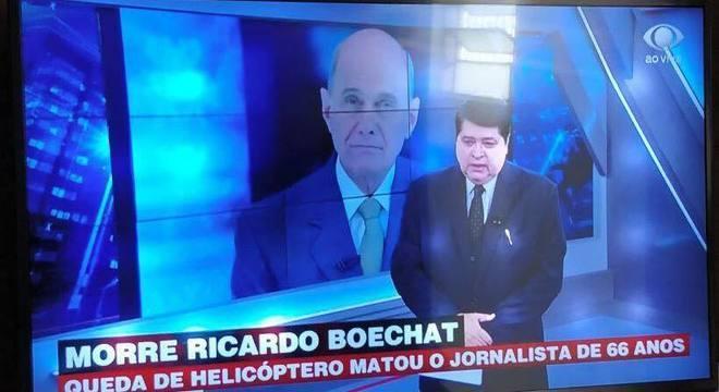 Datena foi o responsável pelo anúncio da morte do colega e amigo Boechat