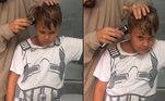 Para ajudar na torcida, até o filho do craque, Davi Lucca, aderiu ao estilo moicano, que fez sucesso na internet