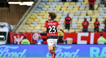 David Luiz estreou com a camisa do Flamengo