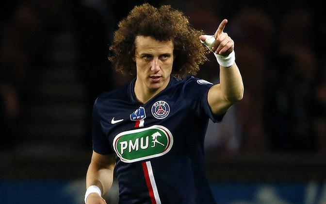 David Luiz atuou entre 2014 e 2016 no PSG. São nove títulos, 89 jogos, oito gols e quatro assistências.