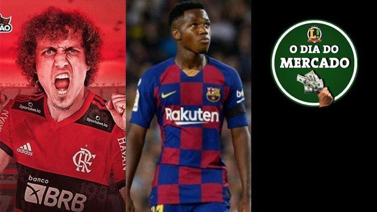David Luiz é o mais novo reforço do Flamengo para 2021. Promessa da base do Barcelona e que já atua na equipe profissional é especulada no Manchester City. Daniel Alves é colocado na mira de gigante sul-americano. Tudo isso e muito mais no Dia do Mercado de sábado.