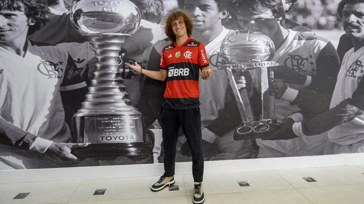 David Luiz: o zagueiro foi titular e atuou por 64 minutos contra o Barcelona (ECU) pela Libertadores, deixando boa impressão para a torcida do Flamengo.