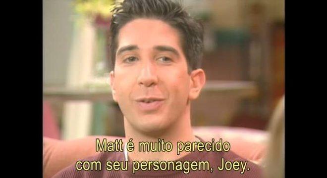 """Em 1995, Ross e Joey de """"Friends"""" falavam sobre sucesso repentino da série"""
