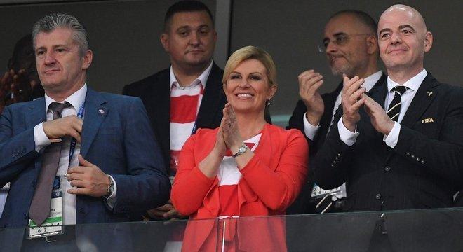 Davor Suker com a presidente Kolinda Grabar-Kitarovic