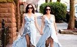 A dupla, que mora em Nova York, nos Estados Unidos, vem conquistando milhares de fãs na internet por ser muito parecida