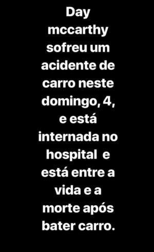 Comunicado foi postado no Instagram