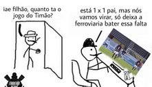 Corinthians perde invencibilidade e web não perdoa; veja os memes