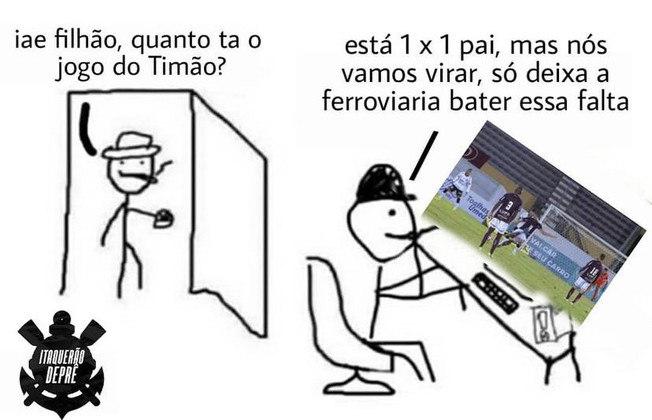 De virada, o Timão perdeu por 2 a 1 para a Ferroviária e os rivais foram às redes sociais tirar sarro do resultado. Veja os melhores memes na galeria! (Por Humor Esportivo)