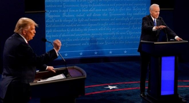 Debate entre os candidatos Donald Trump e Joe Biden