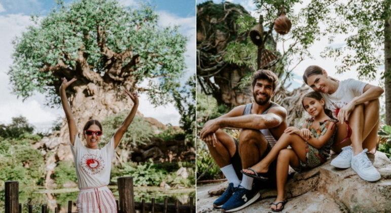 Em Orlando, eles também arrumaram um tempinho para curtir os parques da Disney, como o Animal Kingdom