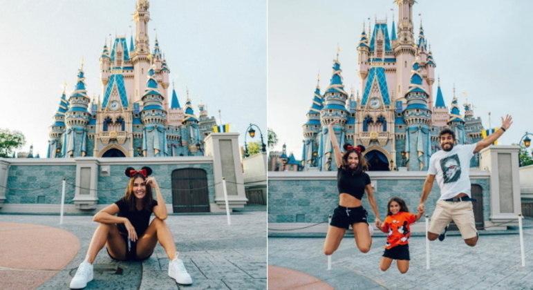No parque Magic Kingdom, Deborah se declarou para a família: