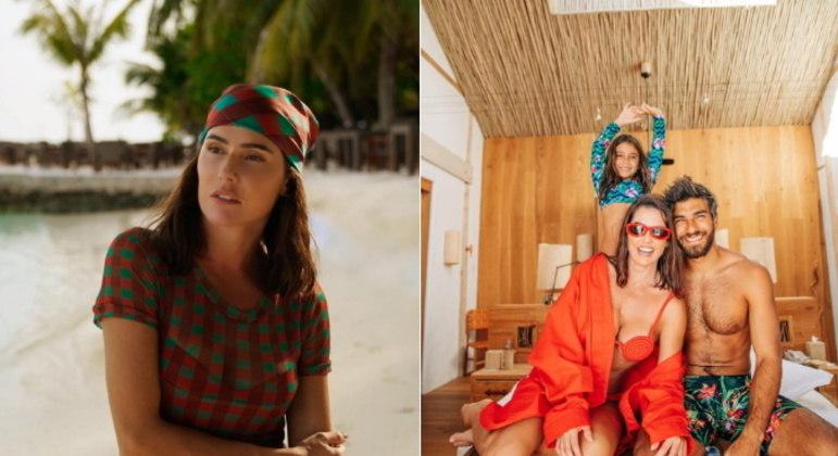 Deborah se mostrou apaixonada pelas Maldivas, ressaltando alguns feitos da filha durante a passagem pelo local: