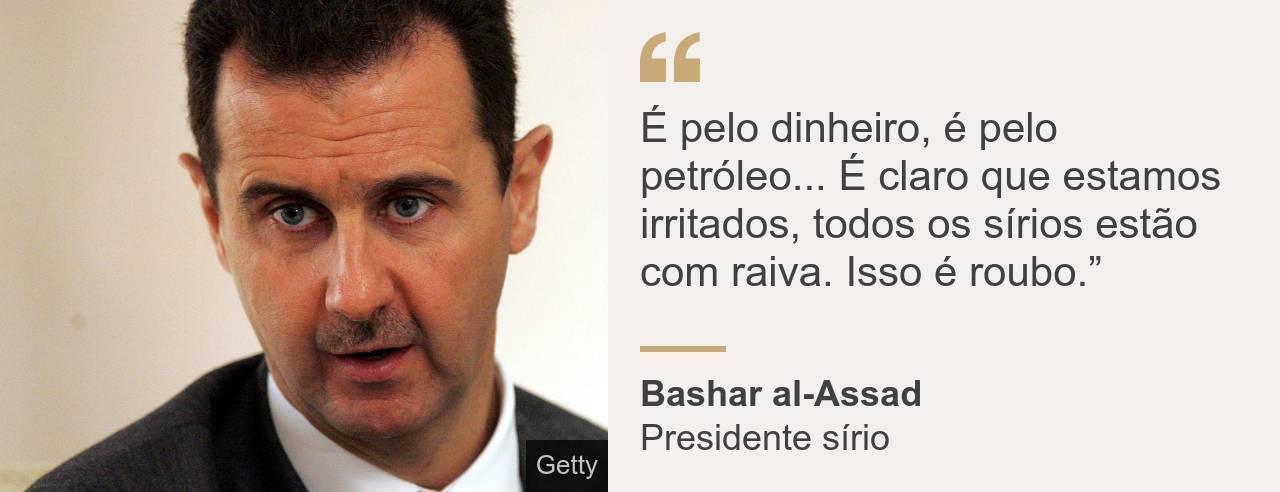 Declaração de Bashar al-Assad sobre petróleo sírio