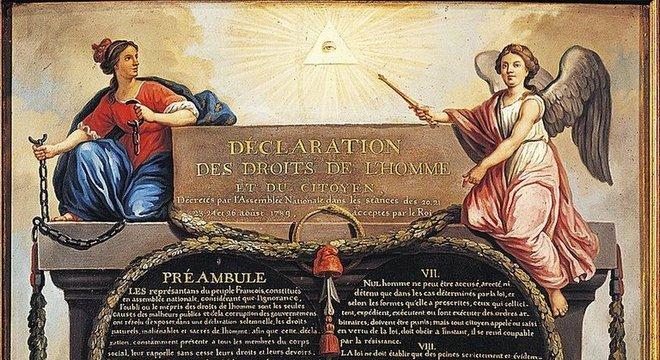 A imagem também aparece na Declaração dos Direitos do Homem e do Cidadão