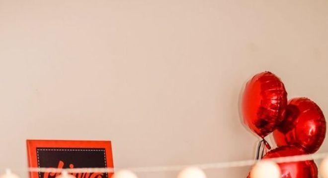 Decoração da Ladybug para festa do pijama