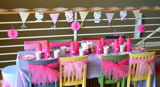 decoracao de festa infantil mesa de criancas