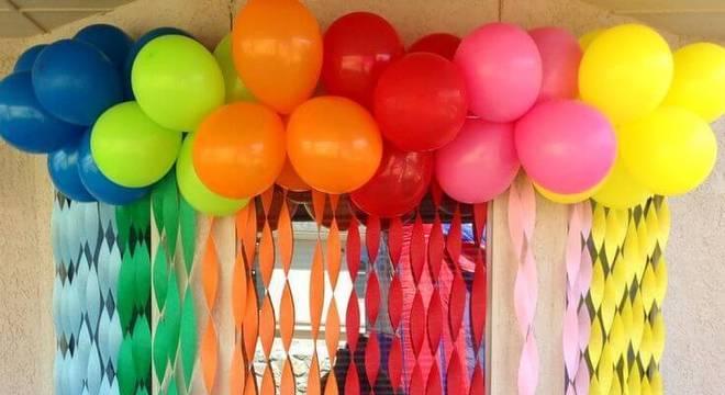 decoracao de festa infantil papel crepom colorido