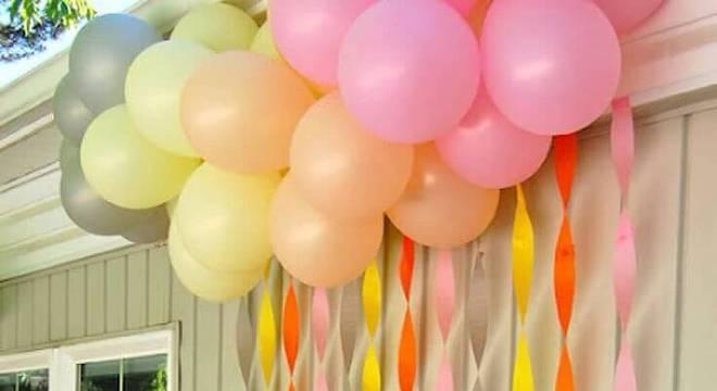 decoracao de festa infantil papel crepom e bandejas
