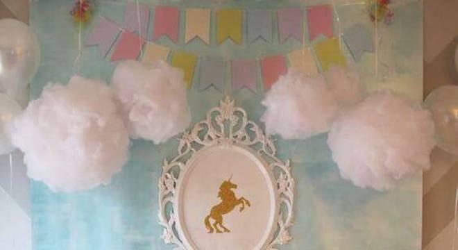 decoracao de festa infantil unicornios