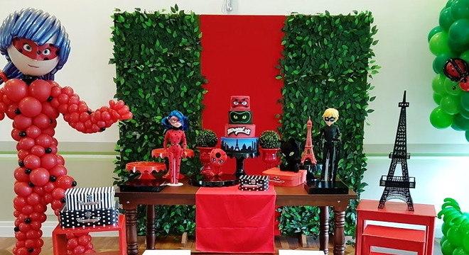 Decoração de festa ladybug