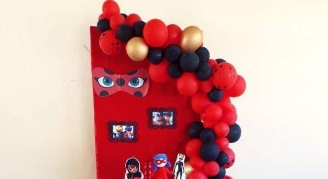 Decoração de festa ladybug simples e barata
