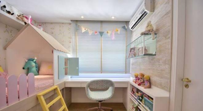 Decoração para quarto de menina com cama de casinha