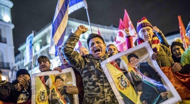 Organizações condenaram excesso de violência contra protestos de defensores de Morales em La Paz