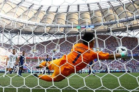 Kawashima fez defesa mais bonita da Copa até agora