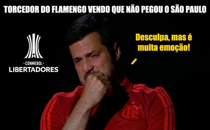 Definição do chaveamento da competição foi realizada nesta terça-feira. Reencontro de Rogério Ceni e Flamengo com Sebastian Beccacece (algoz de 2020 quando dirigia o Racing) foi um dos destaques dos memes. Confira! (Por Humor Esportivo)
